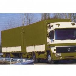 BACHE SAVOYARDE PVC 650g/m² CONFECTIONNEE AVEC OEILLETS ET SANDOW