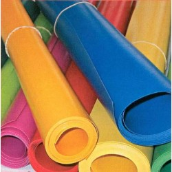 BACHE PVC NON FEU M2 650GR/M²  SUR MESURE CONFECTIONNEE AVEC OEILLETS ET SANDOW